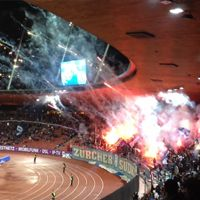 Zurich: Pyrotechnics tested by fans and security officials