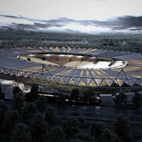 New design: Stadion Falubazu under cover