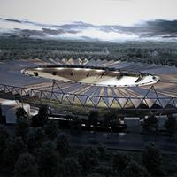New design: Stadion Falubazu under cover