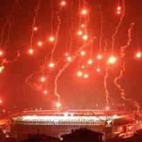Istanbul: Pyroshow inside an empty stadium