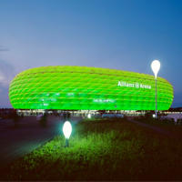 St Patrick's: Stadia among buildings turning green