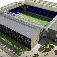 New design: Be'er Sheva Stadium