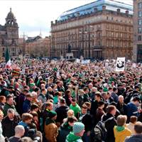 Glasgow: Thousands of supporters against criminalisation