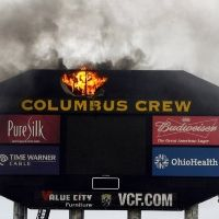 Columbus: Unusual fire of Crew Stadium's scoreboard