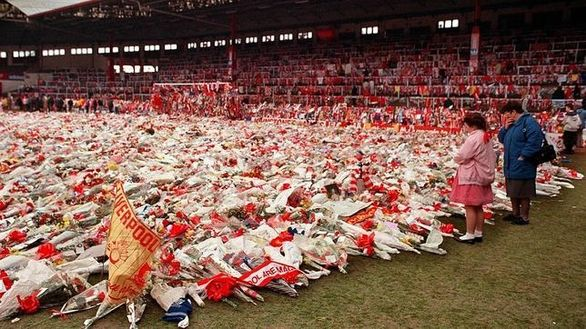 The Kop after Hillsborough