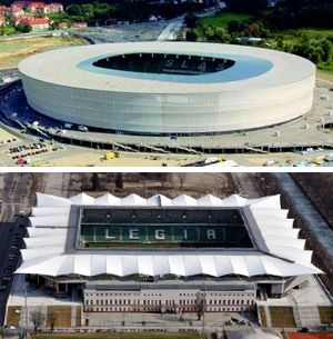 Stadia in Wroclaw and Warsaw