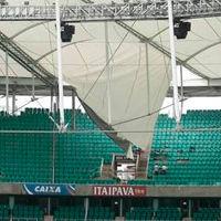 Brazil: Rain ripped Fonte Nova's roof