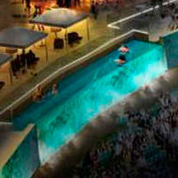 USA: First stadium deck with swimming pools?