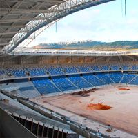 Haifa: Last works at Sammy Ofer Stadium, World Peace Statue in progress