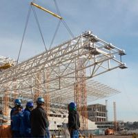 Sao Paulo: Large trusses going up