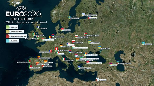 Euro 2020 interest map