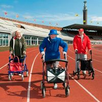 Amsterdam: Walker race for elderly citizens