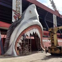 Mexico: Stadium entry through shark jaw