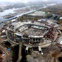Saint Petersburg: Zenit Arena 45% done