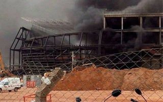 Brazil: Fire compromised stability of Arena Pantanal?