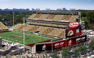 Hamilton: Tim Hortons Field six weeks late
