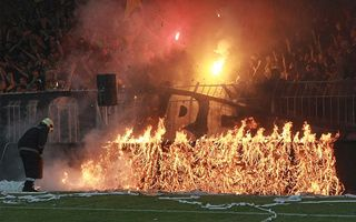 Bulgaria: Scandal during cup final, advertising boards on fire