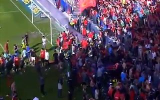 Pamplona: 25 supporters injured in barrier collapse