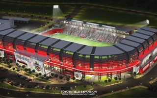 Stadium & design: Toyota Field with scorpion's tail