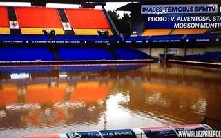 Montpellier: Flooding covered Stade de la Mosson