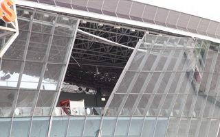 Donetsk: Donbass Arena facade falling off