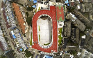 China: School pretending to be a stadium (and doing it well!)
