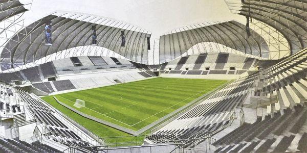 New design: The egg-stadium from Romania