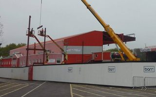Bristol: South stand skeleton begins to grow at Ashton Gate