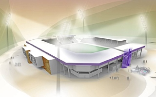 New design: The cut stadium from Aue