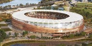 Perth: Construction of the 60,000-seater underway