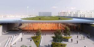 Innovation: Indoor hall under the stadium