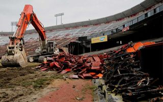 San Francisco: Candlestick Park going down slowly