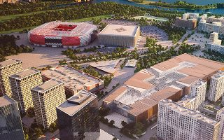 Moscow: Spartak stadium accessible by boat?