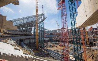 Minneapolis: Vikings Stadium half way there