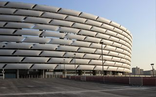 New stadium: Azerbaijan's giant a month from opening