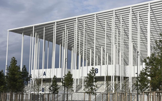 New stadium: The steel frustum from Bordeaux