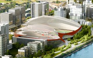 New design: Conjoined arenas in Calgary