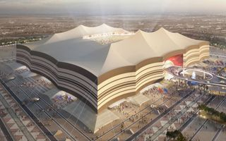 Qatar 2022: Giant tent gets whiter