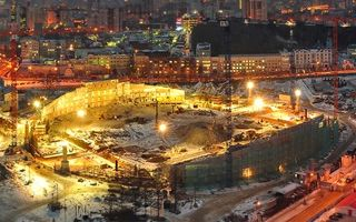 New construction: Yekaterinburg stadium gutted