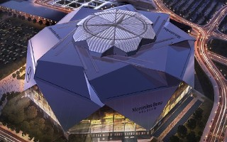 Atlanta: Falcons stadium 3 months behind schedule