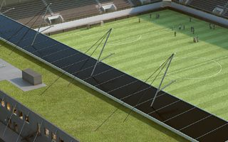 Switzerland: Small stadium, but a large solar plant
