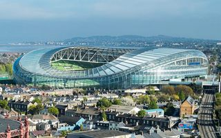 Dublin: Aviva Stadium goes green