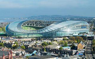 Dublin: Aviva Stadium goes green