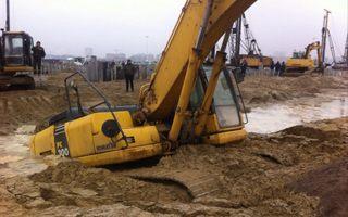 Russia 2018: Excavator drowned in Kaliningrad