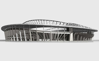 New design: The grand football stadium of Alger