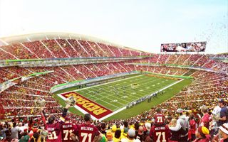 New design: Redskins stadium in more detail
