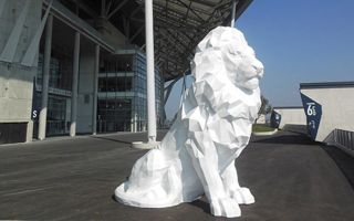 Lyon: Four printed lions to decorate Parc OL