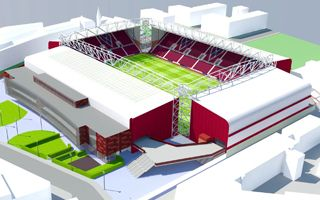New design: Hearts reveal their last grandstand