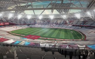 London: Olympic Stadium more claret and blue
