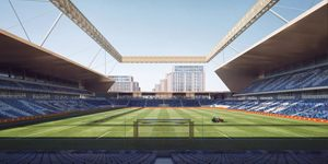 England: Luton Town's stadium with a hat